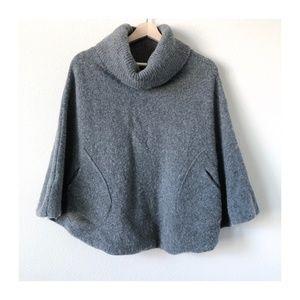 EUC | GAP | Gray Wool & Cashmere Shawl/Poncho